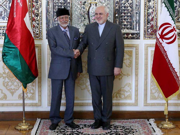 Mohammad Javad Zarif and Yousuf Bin Alawi