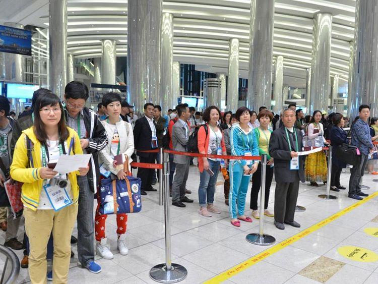 Passport control officers in Dubai ports