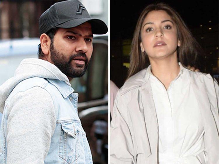 Rohit Sharma and Anushka Sharma