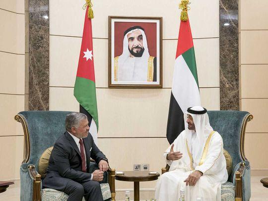 Shaikh Mohamed Bin Zayed Al Nahyan with King Abdullah