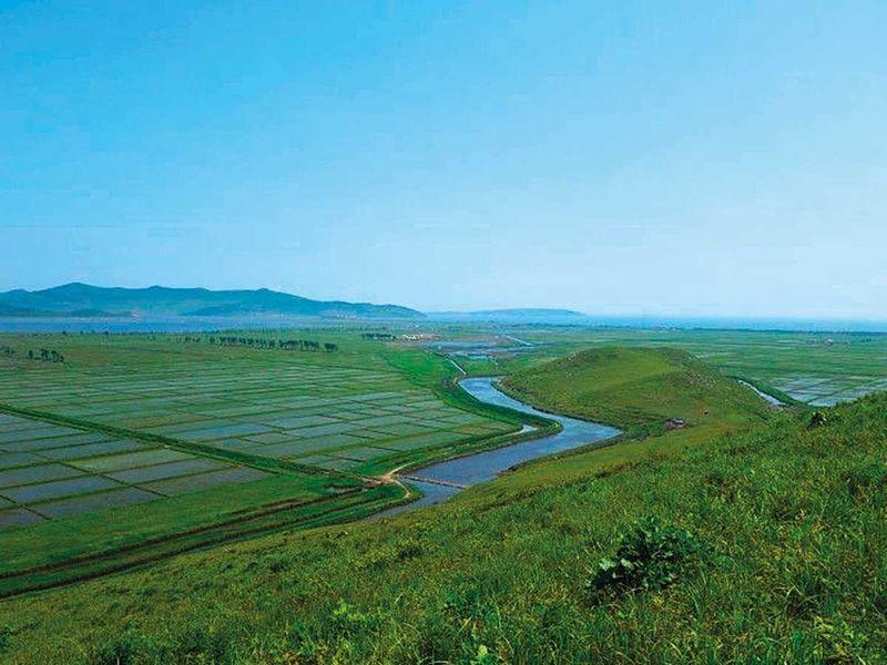 A view of North Korea's Rason Migratory Bird Reserve
