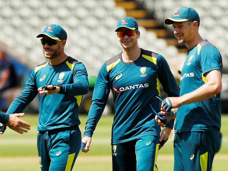 Australia's David Warner, Steve Smith and Cameron Bancroft