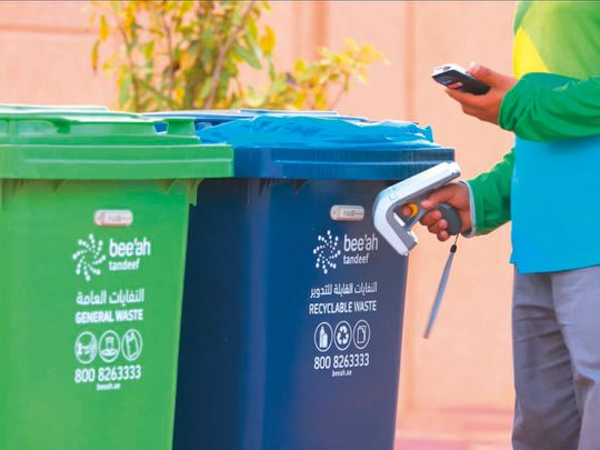 NAT-190730-Bee'ah-color-coded-bins-to-separate-general-and-recyclable-waste-(Read-Only)