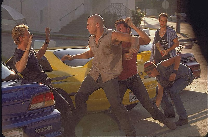 Vin Diesel and Paul Walker in The Fast and the Furious (2001)-1564466848799