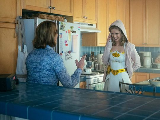 Ann Cusack and Erin Moriarty in The Boys (2019)-1564560621383