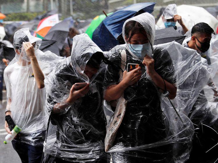 Hong Kong typhoon