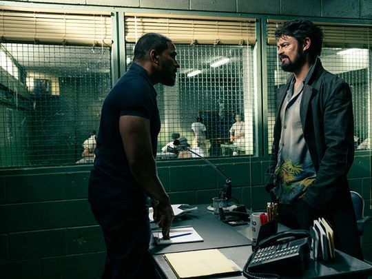 Laz Alonso and Karl Urban in The Boys (2019)-1564560615503