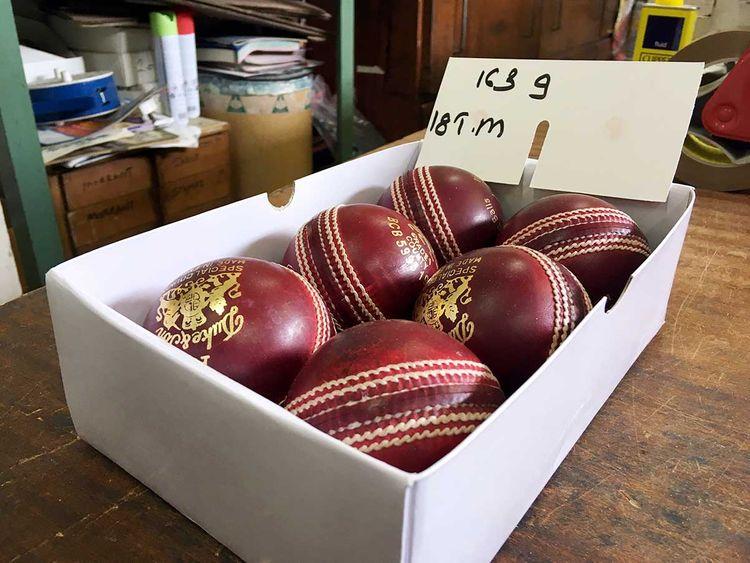 A box of freshly polished Dukes balls