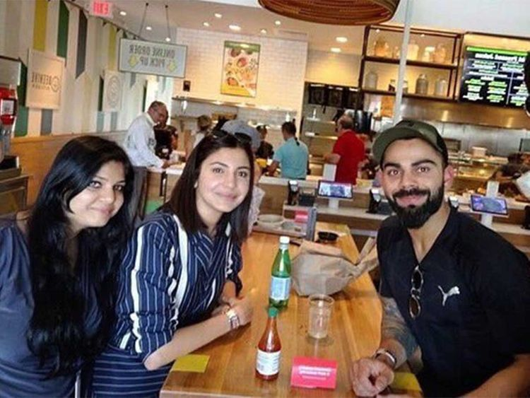 Anushka accompanied Virat to Miami for WI Series