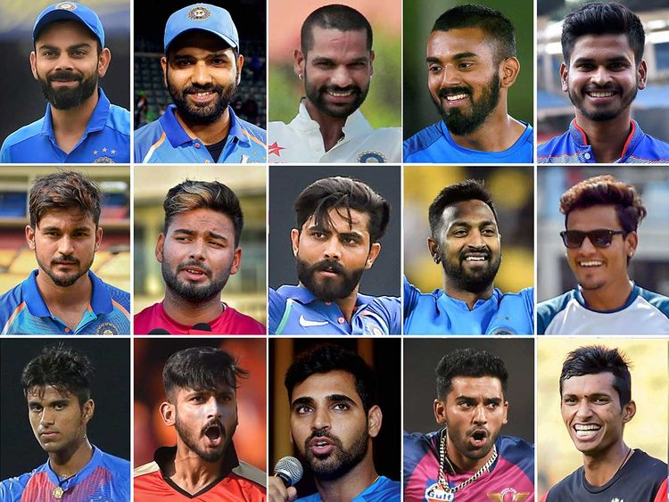 T20 squad, team india,