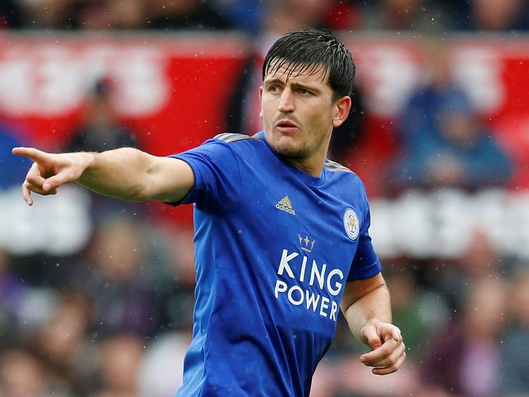 Leicester City's Harry Maguire during a match 20190802
