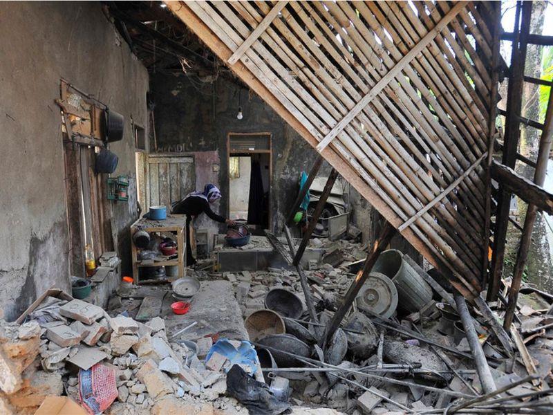 Earthquake hit in Pandeglang, Banten Indonesia