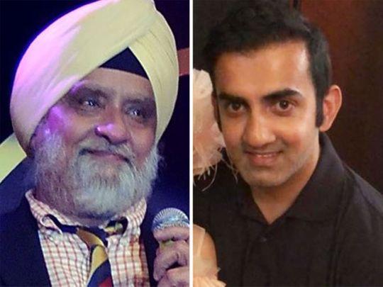 Bishan Singh Bedi and Gautam Gambhir
