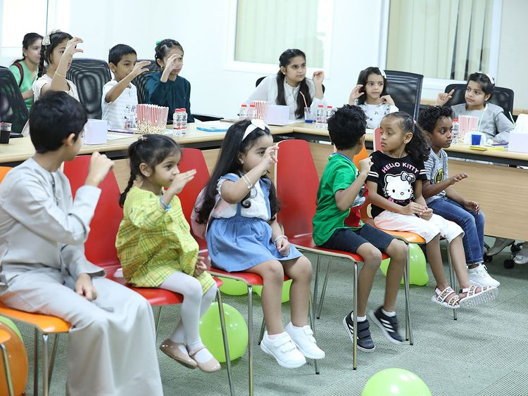 NAT-190805-Ministry-of-Community-Development-Organizes-Sign-Language-Basic-Course-for-Children-(Read-Only)