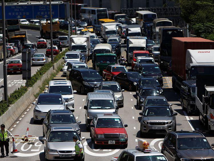 traffic hong kong