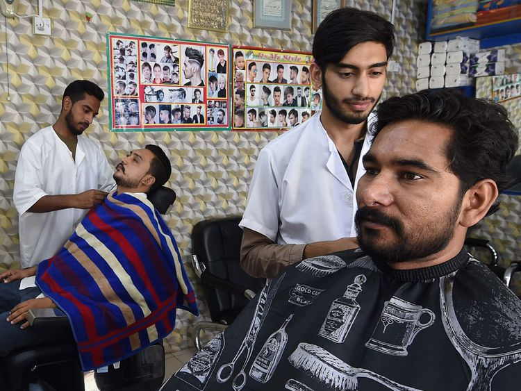 Barbers Mohammed Hussain and Omer Ul Satar