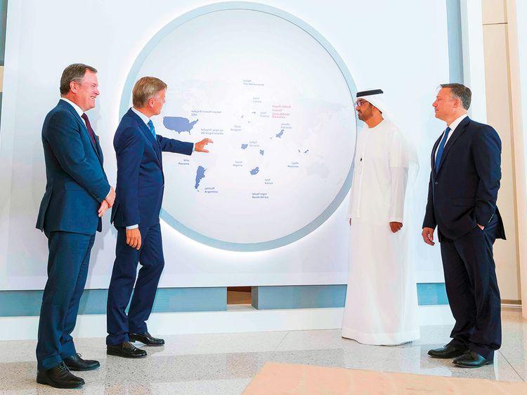 Dr Sultan Ahmad Al Jaber, Rob Nijst, CEO VTTI