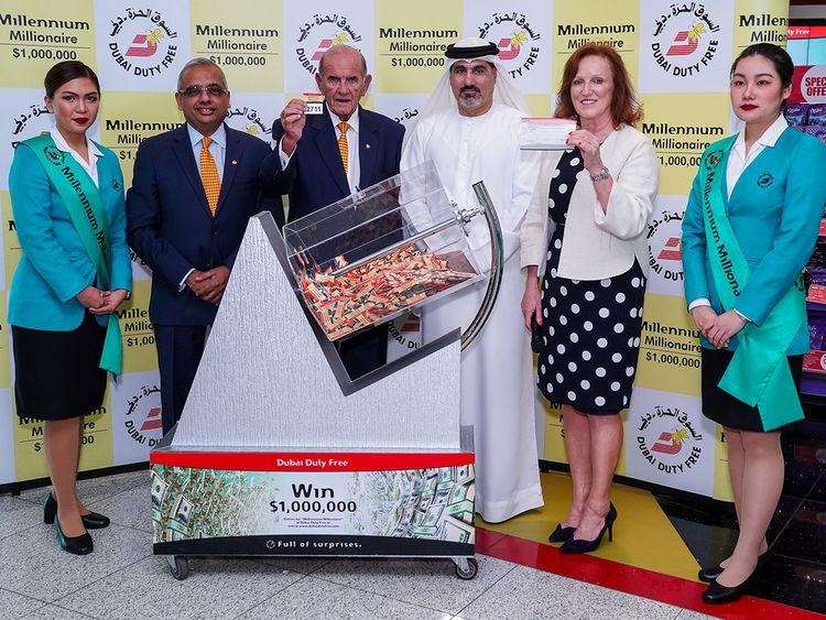 Dubai Duty Free Millennium Millionaire draw in Series 306