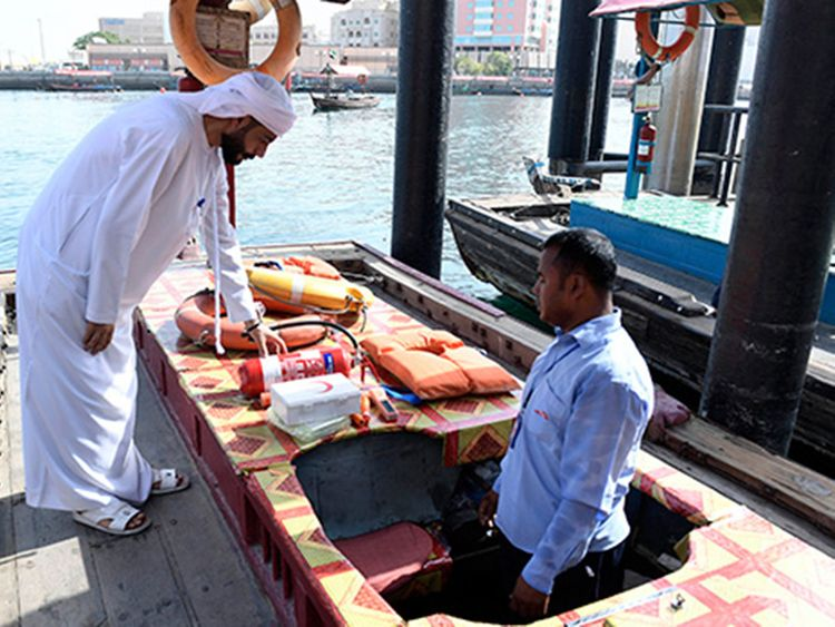 Dubai slaps 98 fines on abras, water taxis