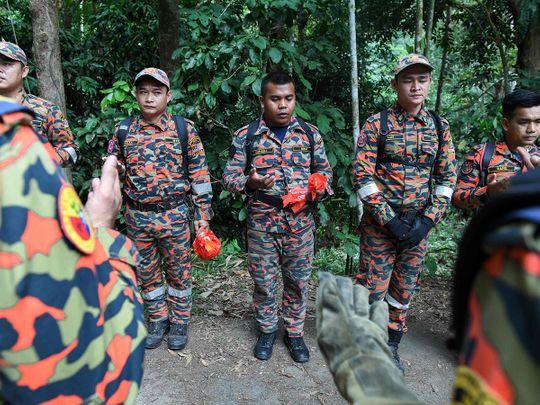 Members of Malaysian K-9 unit