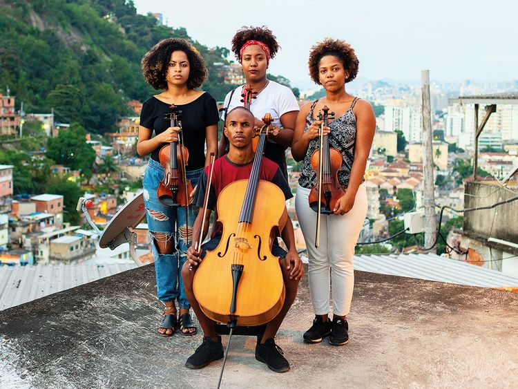 Members of the Orquestra de Rua