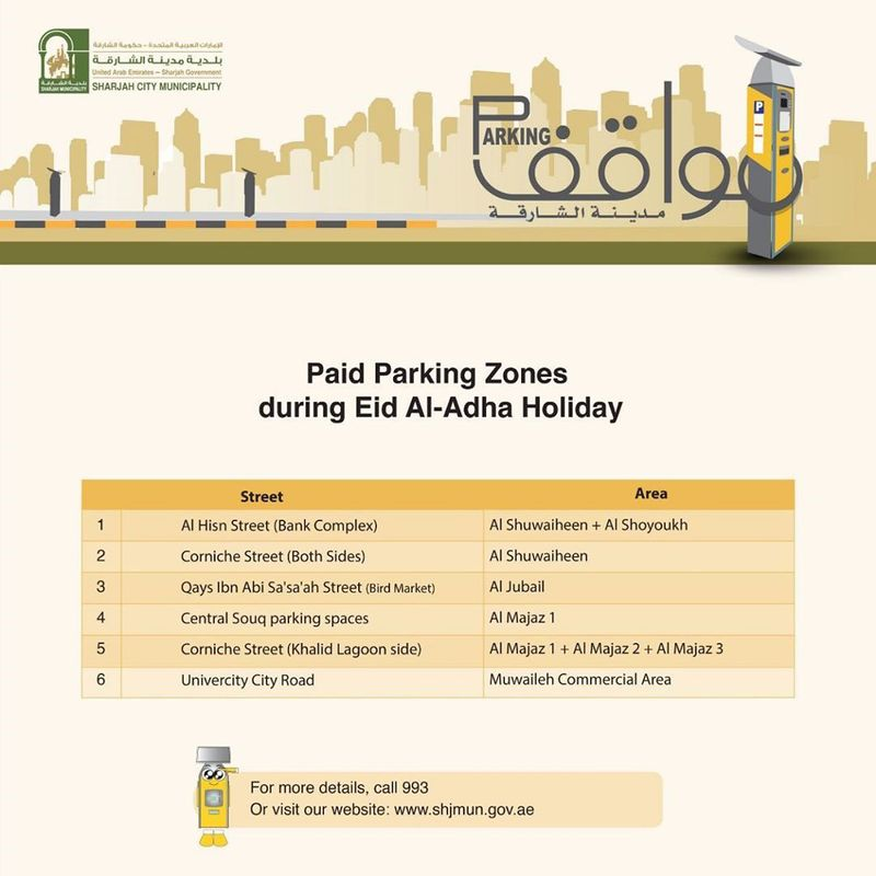 Sharjah paid zones