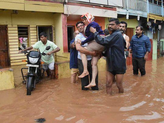 11 dead, 43,000 people evacuated as flood, rains hit Indian states of Karnataka, Kerala