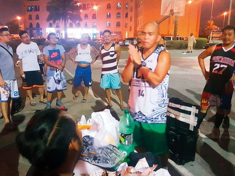 The residents of International City in Dubai gathered to host a picnic