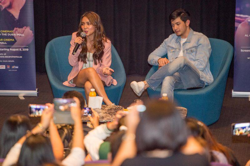 Kathryn Bernardo and Alden Richards in Dubai, promoting their film 'Hello, Love, Goodbye'.