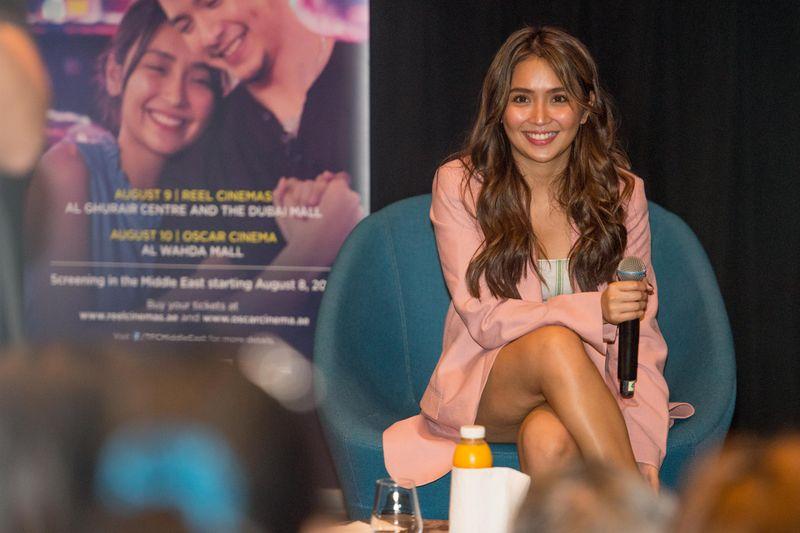 Kathryn Bernardo promoting her film 'Hello, Love, Goodbye' in Dubai.
