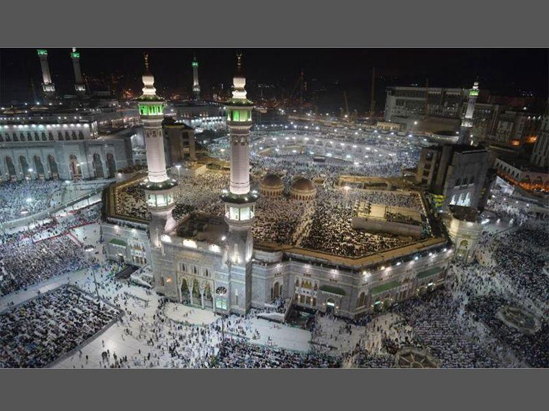 Muslim pilgrims Makkah Hajj