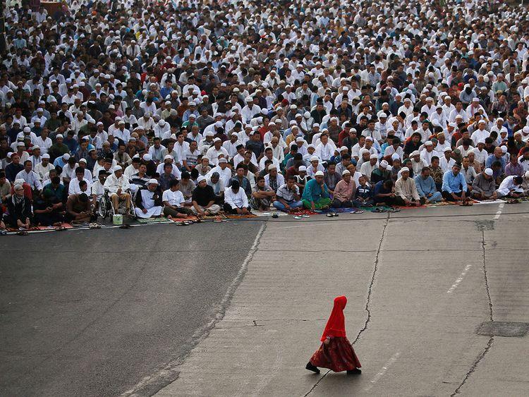 Eid Al-Adha prayers Jakarta-09091