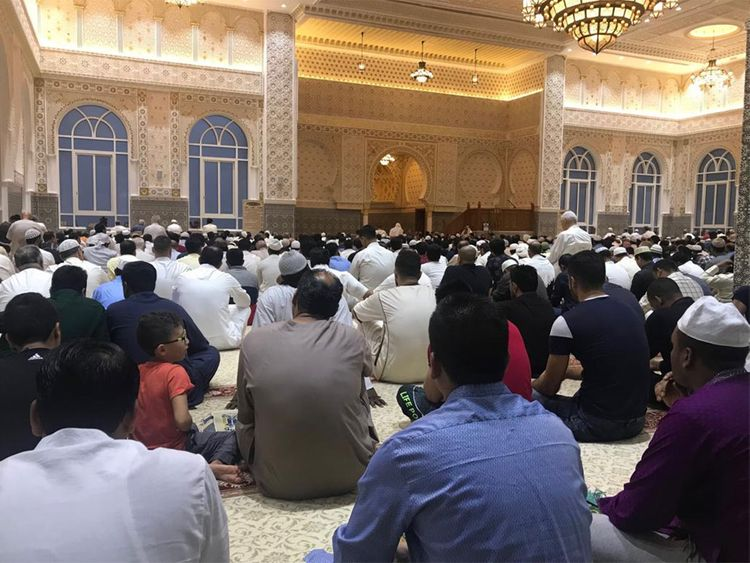 Eid prayers in Sharjah