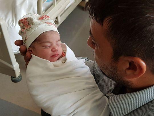 NAT-190811-Baby-Girl-of-Kamal-Abdul-Hamid-Sayyah-born-in-Abu-Dhabi-(Read-Only)