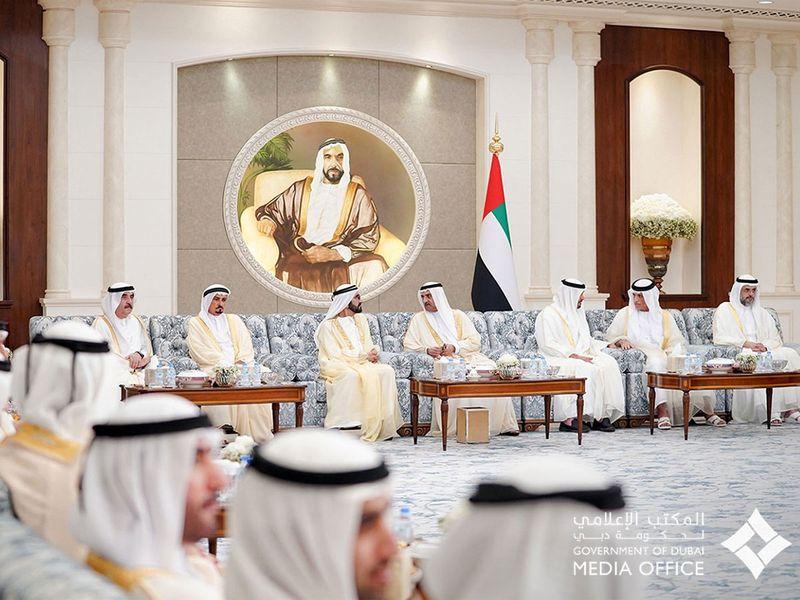 Sheikh Mohammed Bin Rashid and Sheikh Mohamed Bin Zayed