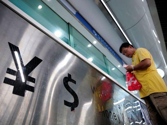 Chinese yuan and US dollar