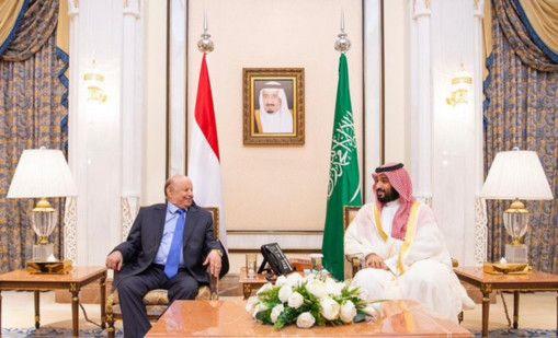 REG 190812 Saudi Crown Prince Yemeni President-1565607873428