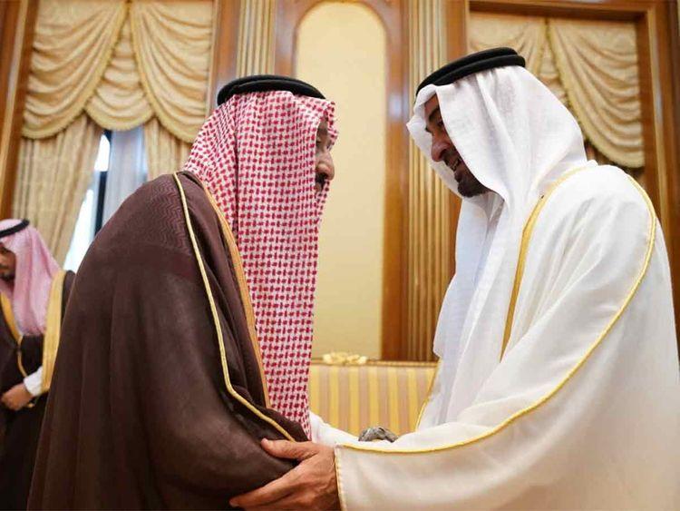 Shaikh Mohamed with Saudi King Salman bin Abdulaziz