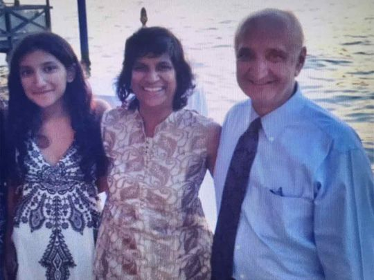 Dr Khurana with family