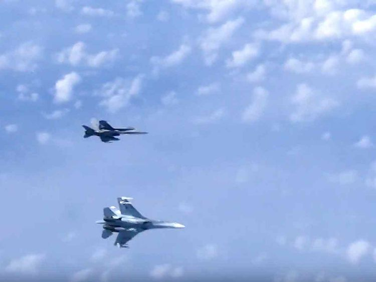 Russian air force Su-27 fighter jet 20190813