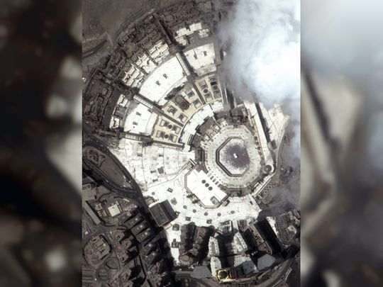 Grand Mosque Makkah from space