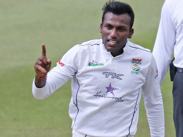 Left-arm spinner Senuran Muthusamy