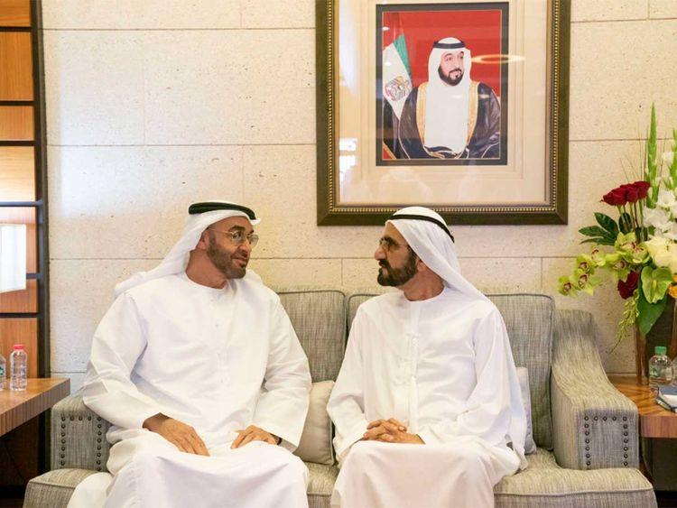 Mohammed bin Rashid with Mohamed bin Zayed