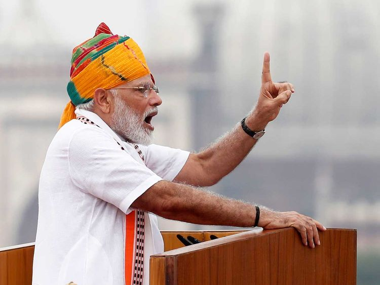 Indian Prime Minister Narendra Modi announces major changes