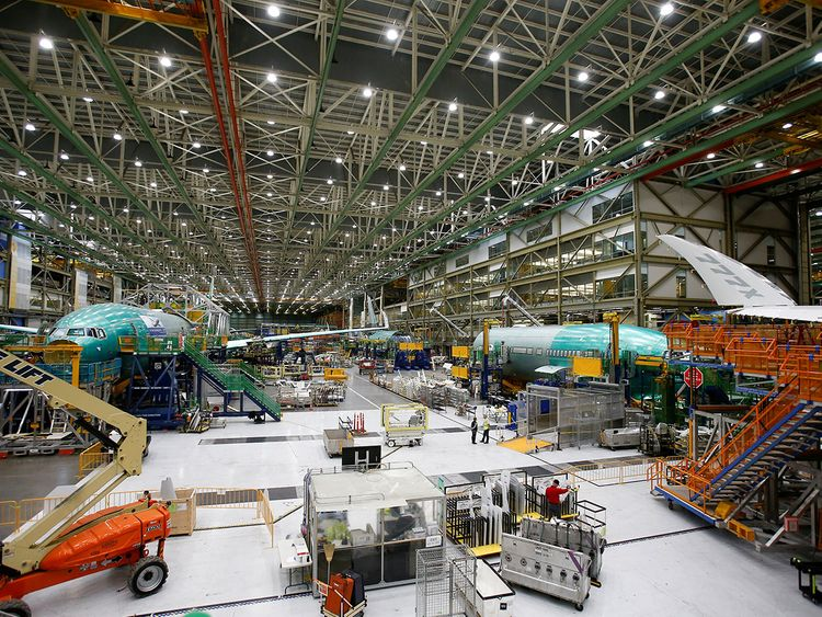 Boeing 777X aircraft