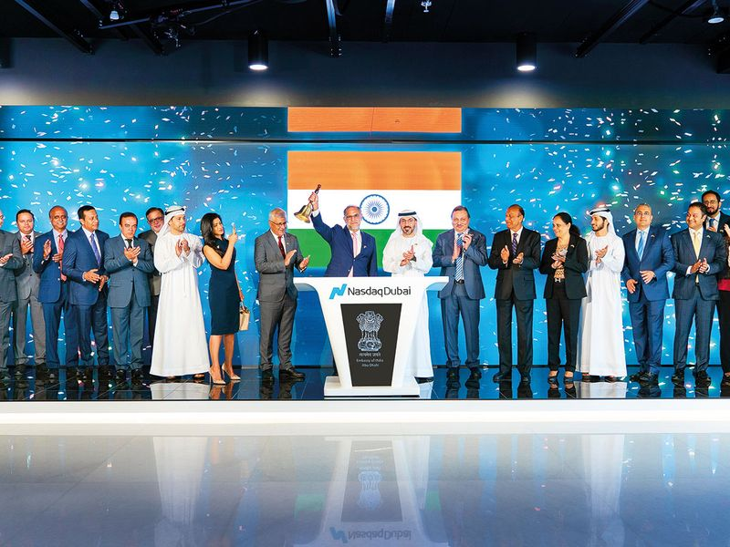 Indian Ambassador to the UAE Navdeep Singh Suri rings