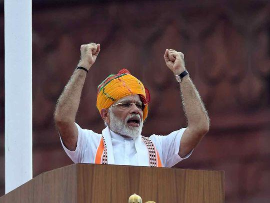 Indian Prime Minister Narendra Modi 2019