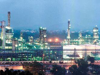 The Reliance petrochemical plant in Jamnagar