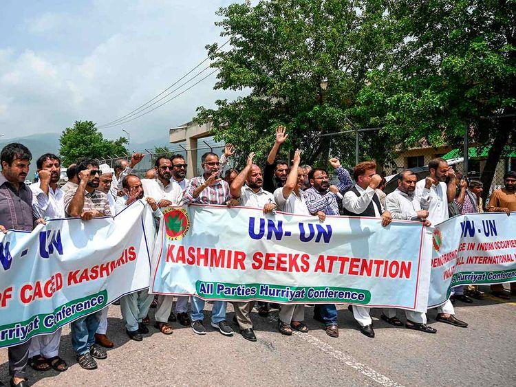 Protest Kashmir UNSC