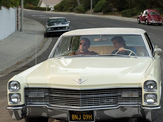 Brad Pitt and Leonardo DiCaprio in Once Upon a Time ... in Hollywood-1566041006482